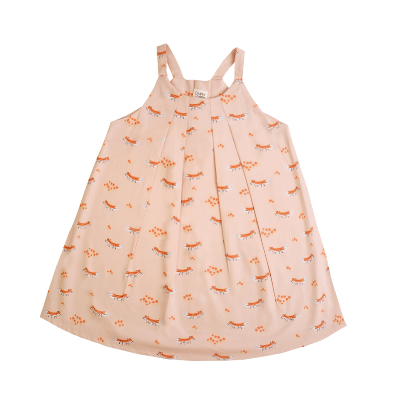 Autumn Fox Pleat Dress