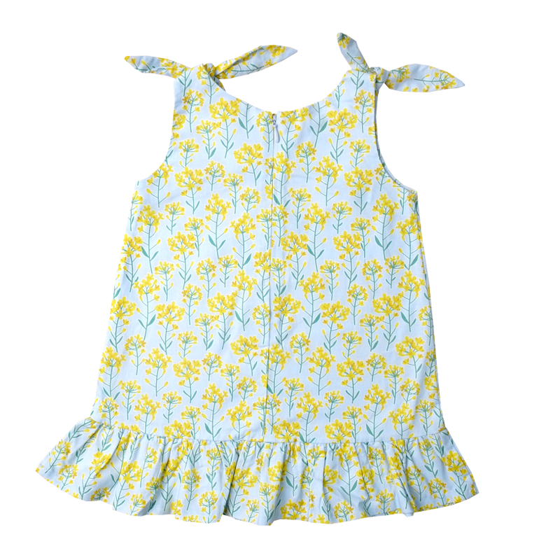 Yellow Meadows Knot Dress