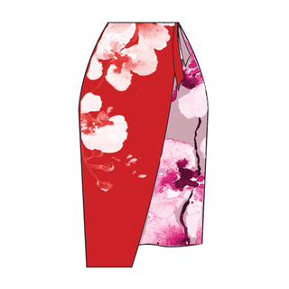 Tanglin Orchird Ladies Dreamers' Haven Skirt (Candy Red)