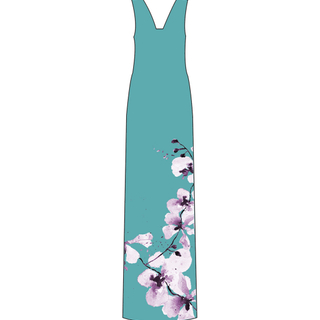 Tanglin Orchird Ladies Limitless Dress (Light Teal)