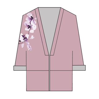 Tanglin Orchird Ladies Unwavering Love Kimono (Muted Plum)