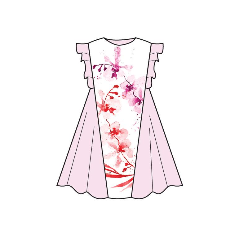 Tanglin Orchird Flutter Flare Dress