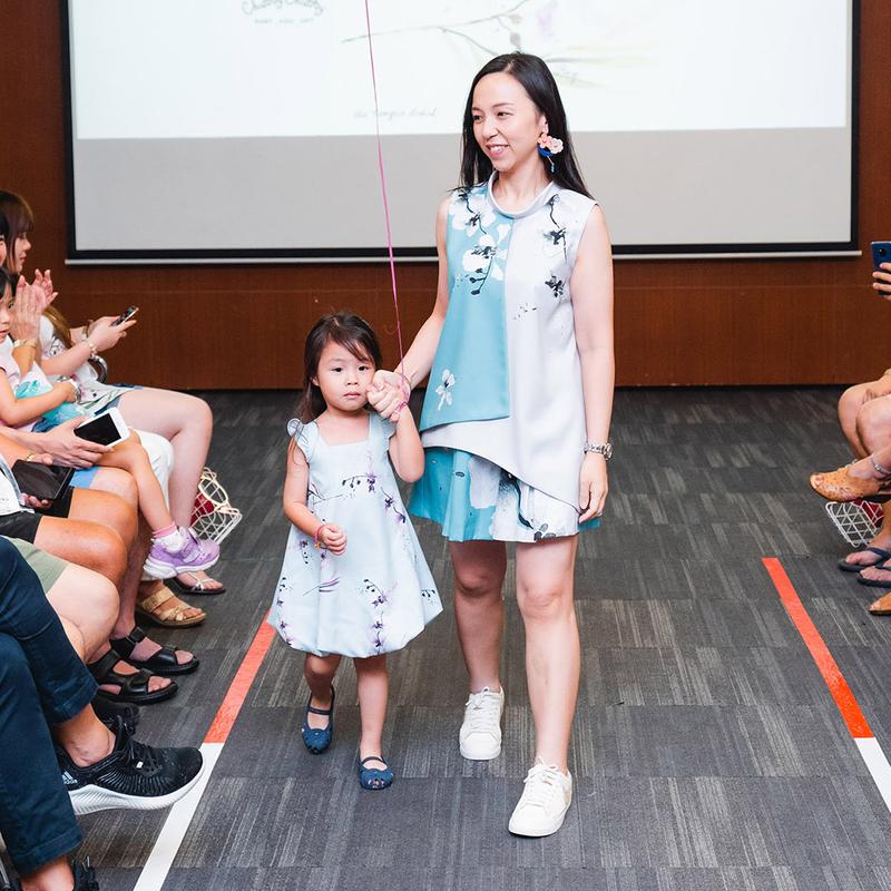 Tanglin Orchird Ladies Chikurin Shorts (Light Teal)