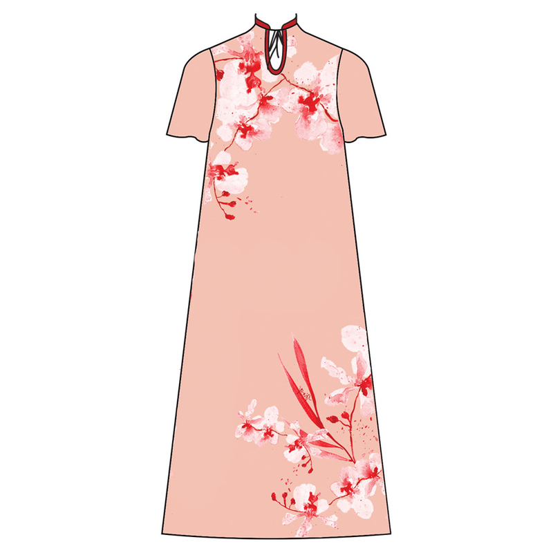 Tanglin Orchird Ladies Ivy Dress