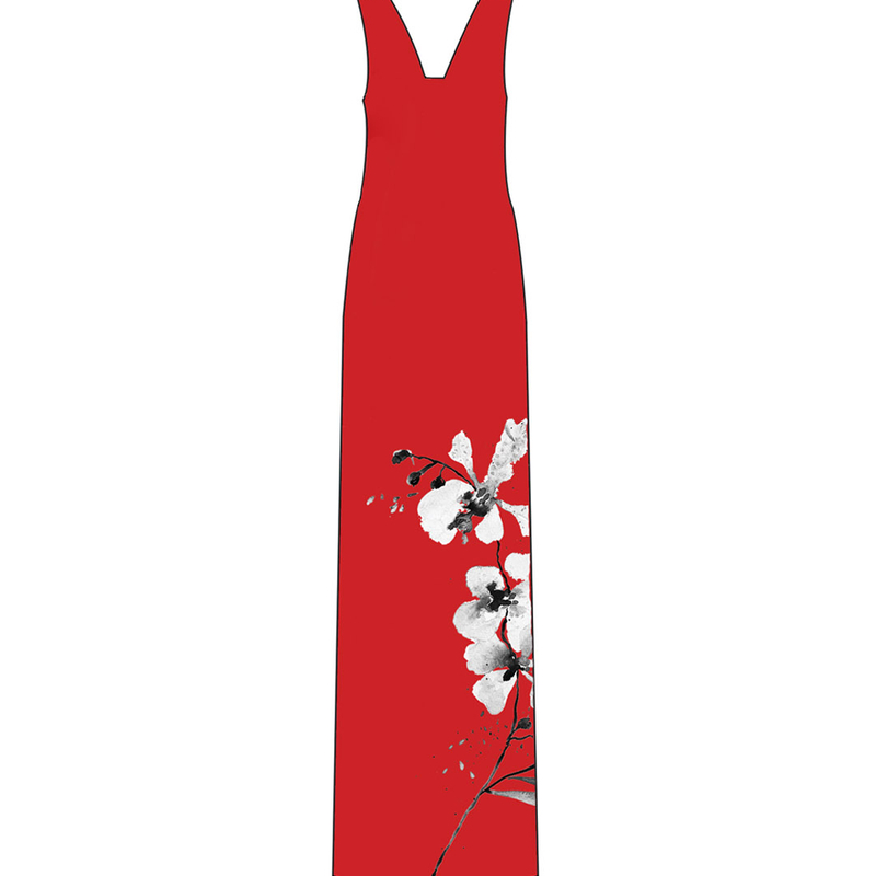 Tanglin Orchird Ladies Limitless Dress (Candy Red)