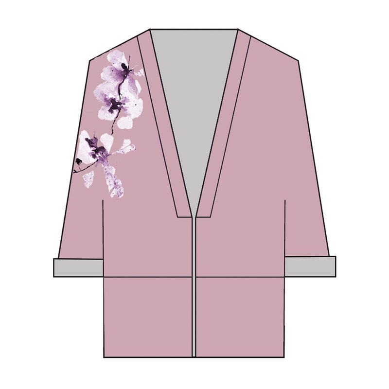 Tanglin Orchird Ladies Unwavering Love Kimono (Muted Plum)