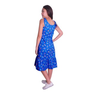 Mommy's Knot Dress - Blue Victory Yay