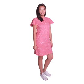 Mommy's Flutter Shirt Dress - Pink Chopsticks
