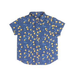Boys Shirt - Festive Lemon Navy