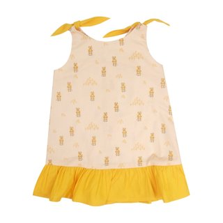 Girl's Knot Dress - Sunshine Bunnies
