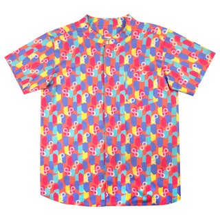 Boy's Mandarin Shirt - Colorful Infinity Huat