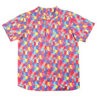 Boy's Mandarin Shirt - Colorful Infinity Huat