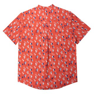 Daddy's V Cut Sleeve Shirt - Red Infinity Huat