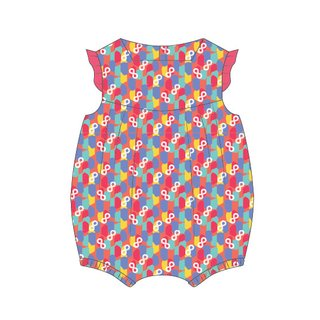 Baby Girl's V Romper - Colorful Infinity Huat