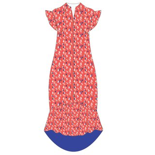 Mommy's Flowy Dress - Red Infinity Huat