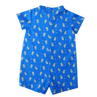 Baby Boy V Neck romper - Blue Pineapple