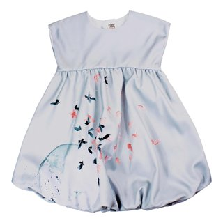 Girl's Bubble Lace Dress - Twilight Butterflies