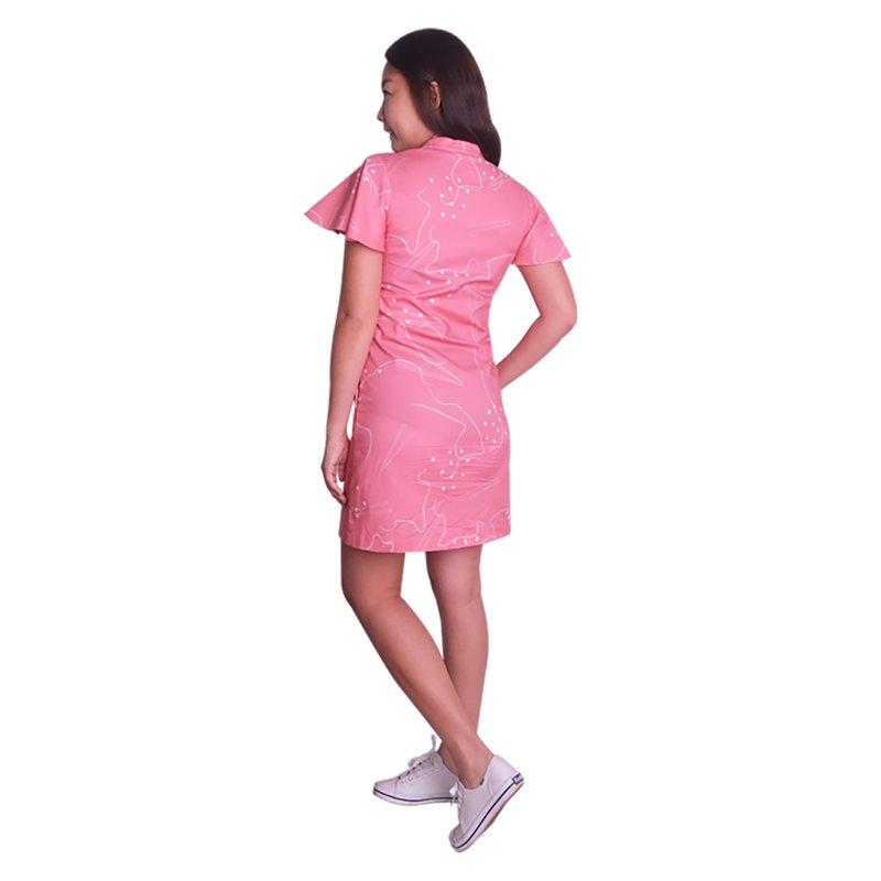 Mommy's Flutter Shirt Dress - Pink Chopsticks