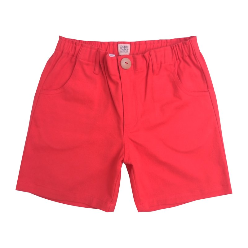 Boy's Bermuda Shorts - Red Orange