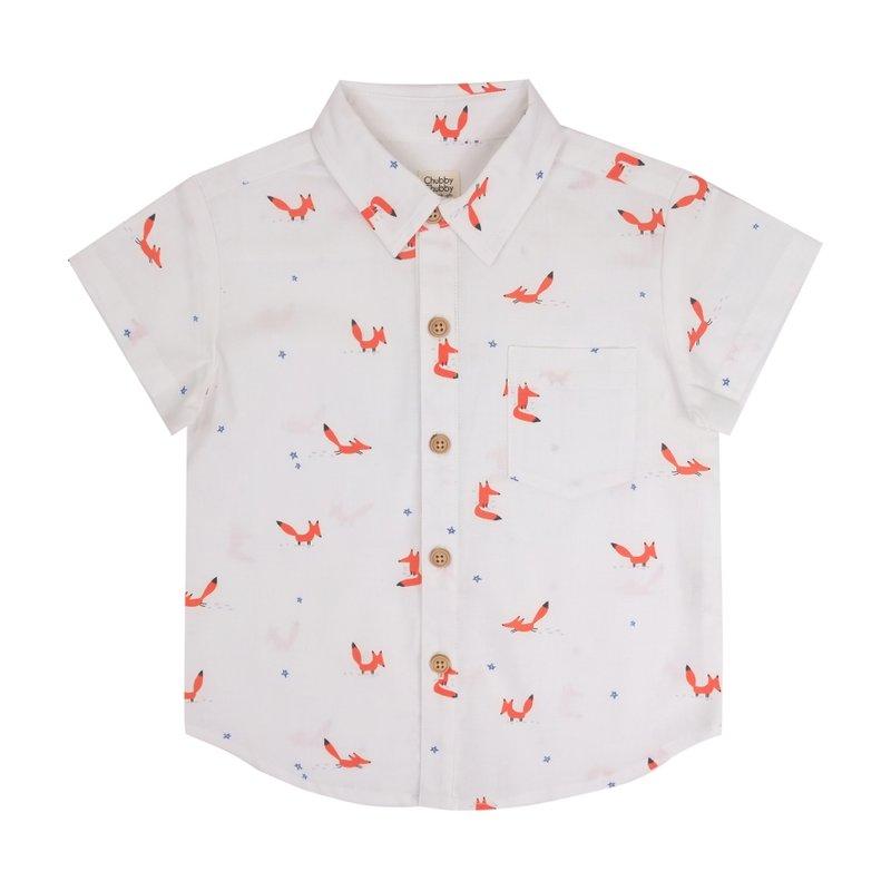 Boys Shirt - Orange Forest Fox