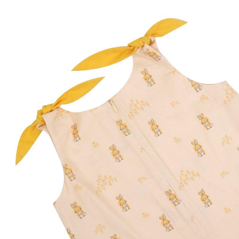 Girl's Knot Dress - Sunshine Bunnies