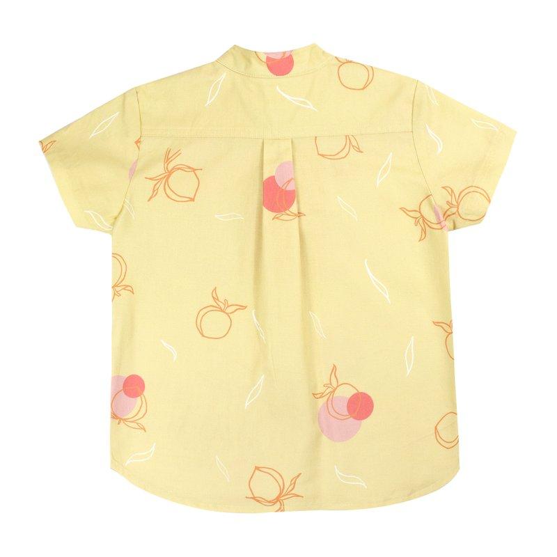Boy's Knot Shirt - Yellow Longevity Peaches