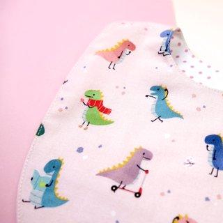 Bib- Playful Dinosaurs Pink