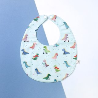 Bib- Mint Playful Dino