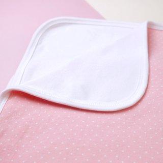 Jersey Baby Blanket- Pink polkadots