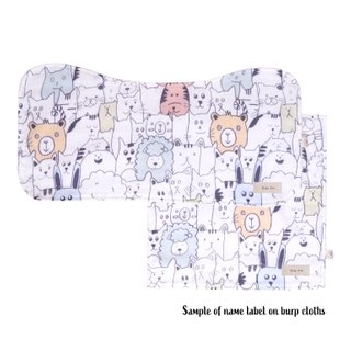 Burp Cloth Bundle - Abstract Animals