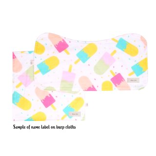 Burp Cloth Bundle - Popsicle Pink