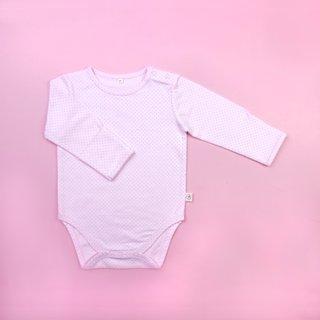 Pink Polkadot Long Sleeve Romper