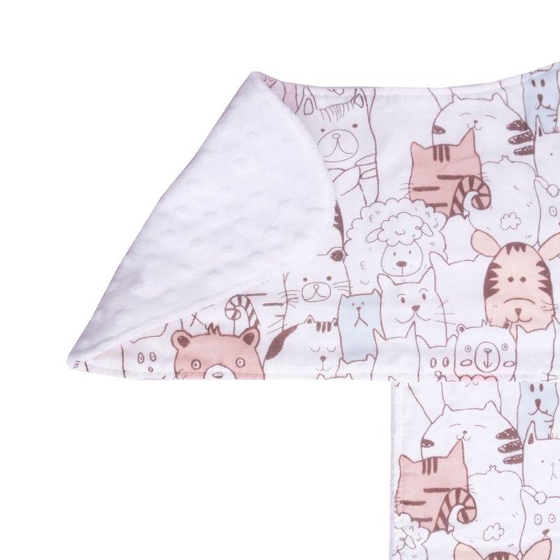 Burp Cloth Bundle -Abstract Animals Pink