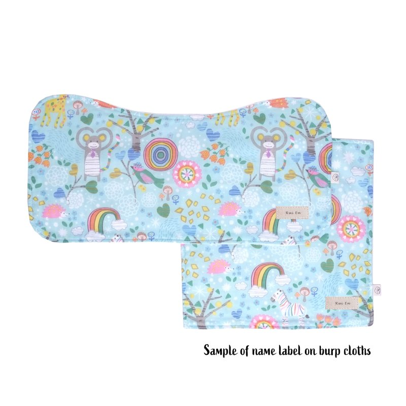 Burp Cloth Bundle - Forest Monkey