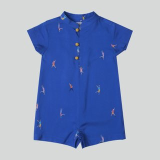 Baby Boy's Let's Dance Navy Romper