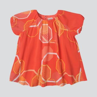 Baby Girl's Puffy Sleeves & Bloomers Set - Abstract Octagons