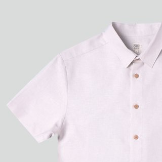 Men's Hexa Linen Shirt- Beige