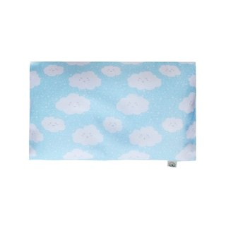 Anti-flat head pillow - Happy Clouds Blue
